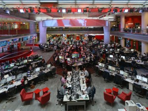 The BBC News Room